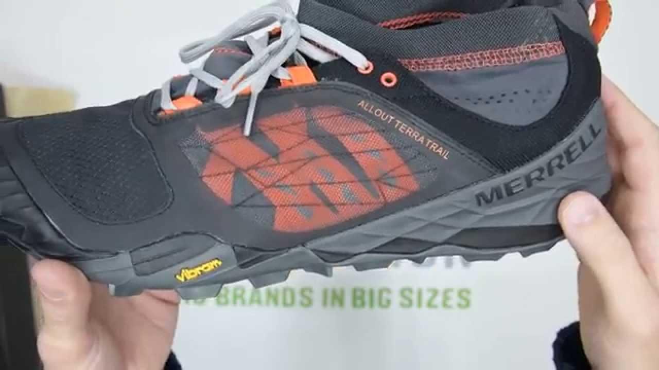 Black Merrell All Out Terra Light Mens Trail Running Shoes