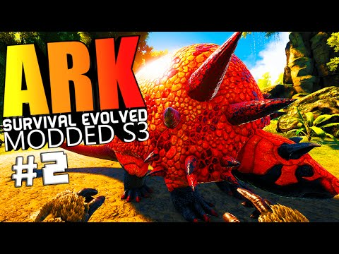 ARK Survival Evolved - BADASS DOEDICURUS, TAMING FAILS, SPAWN TOWN Modded #2 (ARK Mods Gameplay)