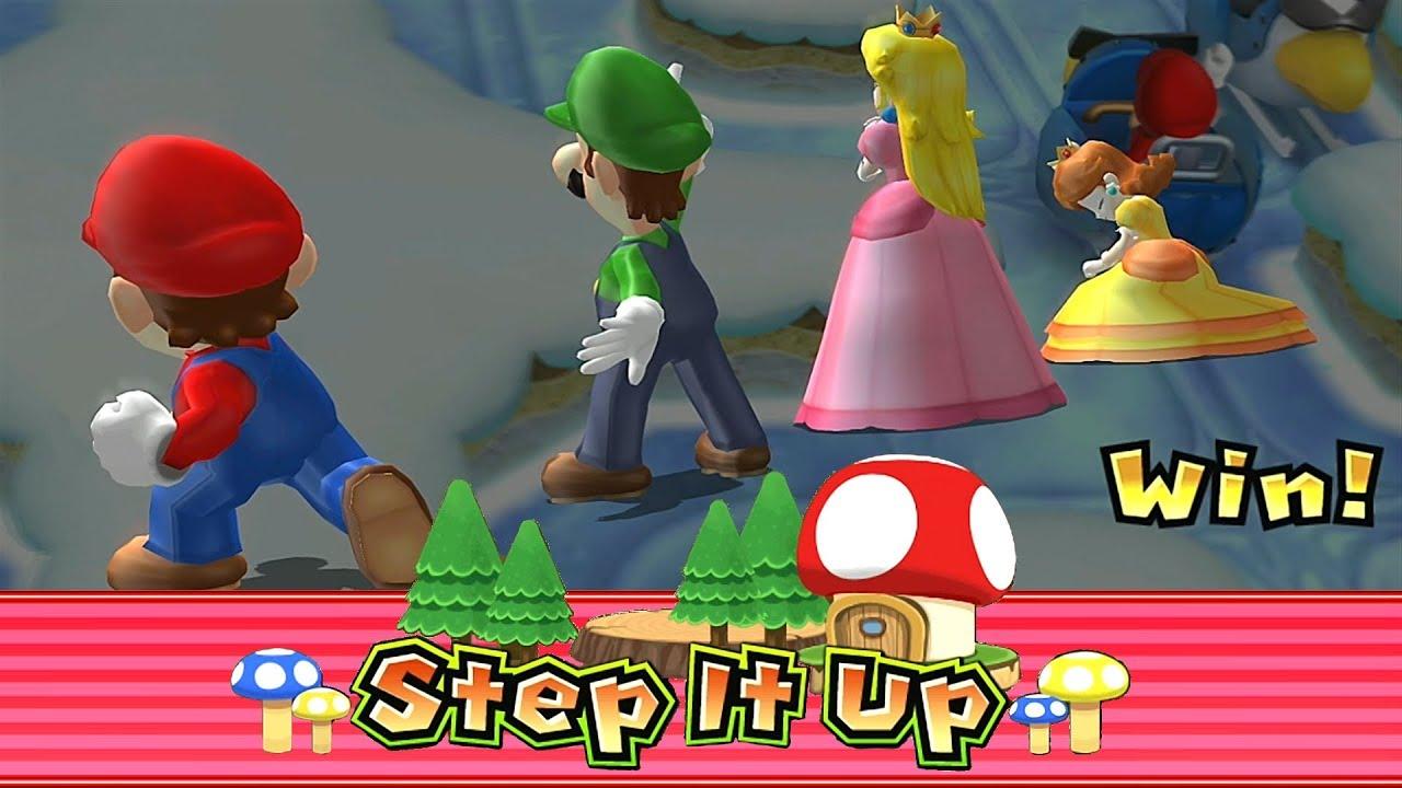 Mario Party 9 Step It Up Peach Luigi Mario Vs Daisy Master