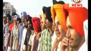 New Punjabi turban news Bathinda (Punjab) Manjeet Singh Tying Turban 94635-95040  HD Video