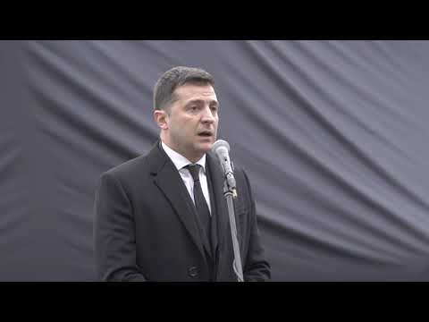 Ukraine's President Zelensky unveils new Babyn Yar monument, marking International Holocaust Remembrance Day and start of 80th anniversary year