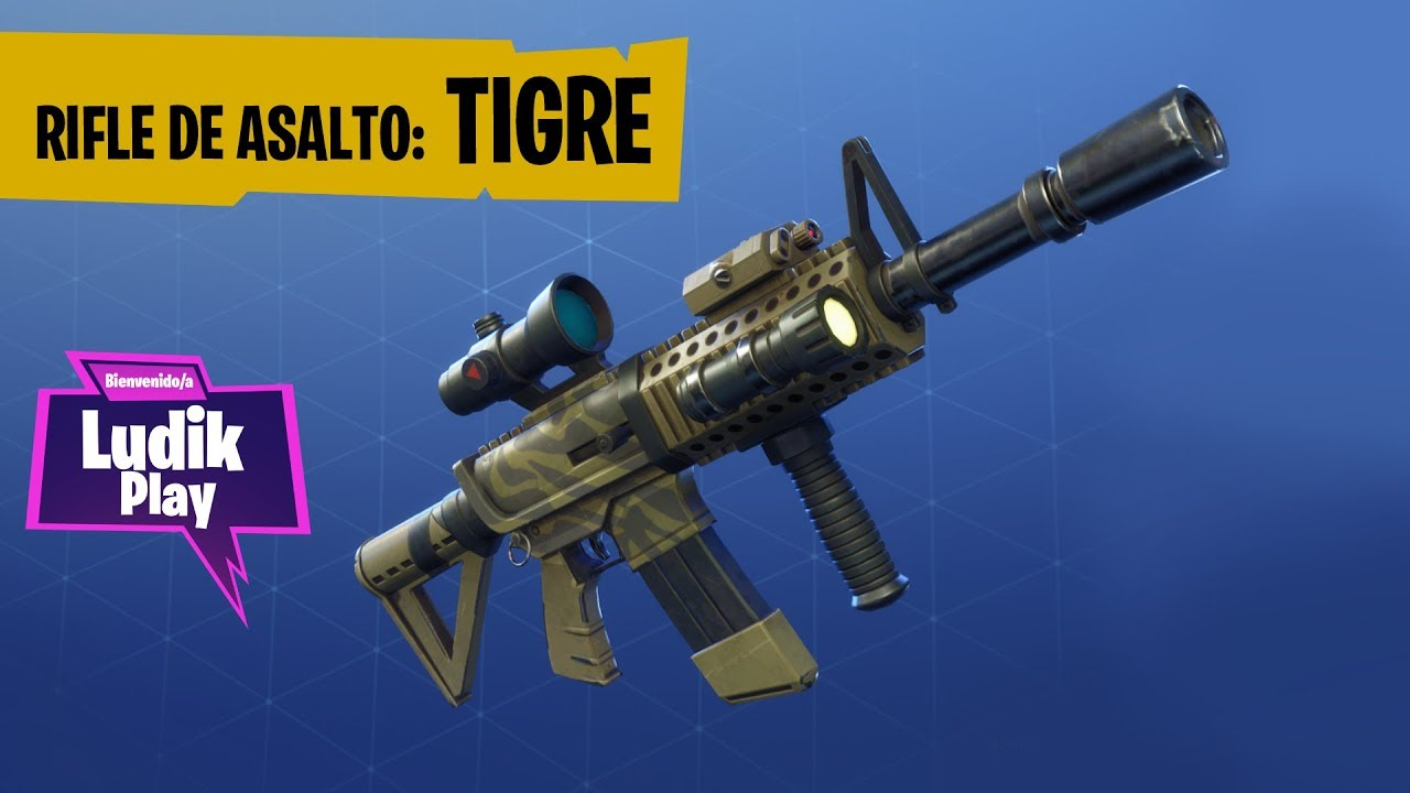 RIFLE DE ASALTO TIGRE, EN DETALLE | FORTNITE SALVAR EL MUNDO | Gameplay español