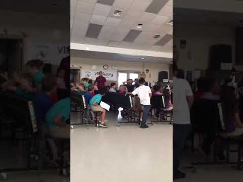 Mr. Branscomb AR award ceremony REACTION at Deltona elementary school