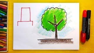 Рисуем Алфавит | Буквы В Г Д Е | Урок рисования для детей