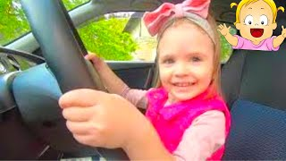 We are in the Car Song & Wheels On The Bus. Baby Song Nursery Rhymes from Nastya and Eva. Baby Time.