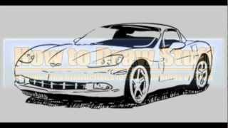 How to Draw a Corvette Step by Step