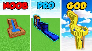 Minecraft NOOB vs. PRO vs. GOD: WATER PARK CHALLENGE in Minecraft! (Animation)