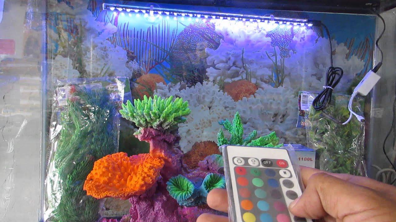 Led para acuario con cambio de colores  YouTube