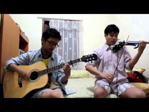 (Acoustic guitar & violin cover) A Thousand Years - Gilbert & Joshua