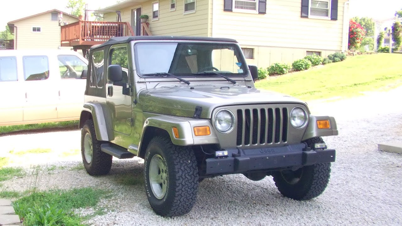 2004 jeep wrangler sahara | updated full tour & start up - youtube