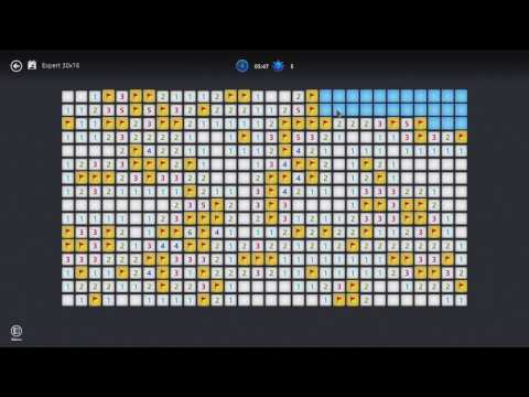 Microsoft Minesweeper Expert :Level WIN!!  99 Mines