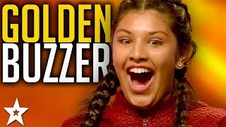 GOLDEN BUZZER AUDITION | ARE YOU DOWN With 12 Year Old Fazlyn? South Africa's Got Talent 2017