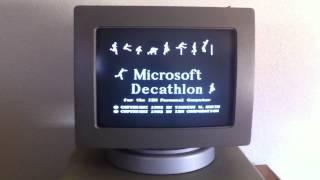 Microsoft Decathlon PC Game 1982