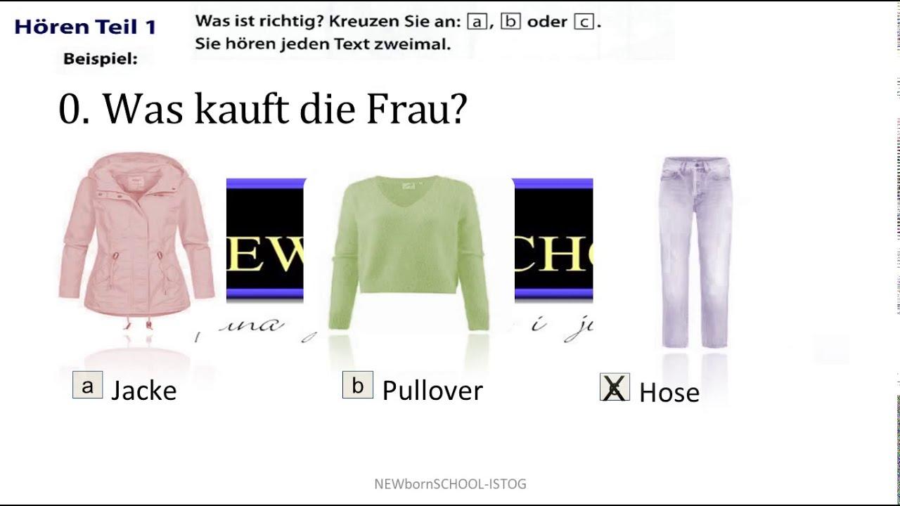 Start Deutsch 1, Hören Teil 1, 2 und 3   Übungstest 21, Goethe-Zertifikat A1