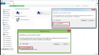 Video How to Fix Network Error 0x80070035 Windows Cannot Access download MP3, 3GP, MP4, WEBM, AVI, FLV September 2018