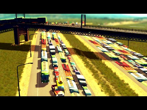 LONGEST TRAFFIC QUE EVER! (Cities: Skylines #2)
