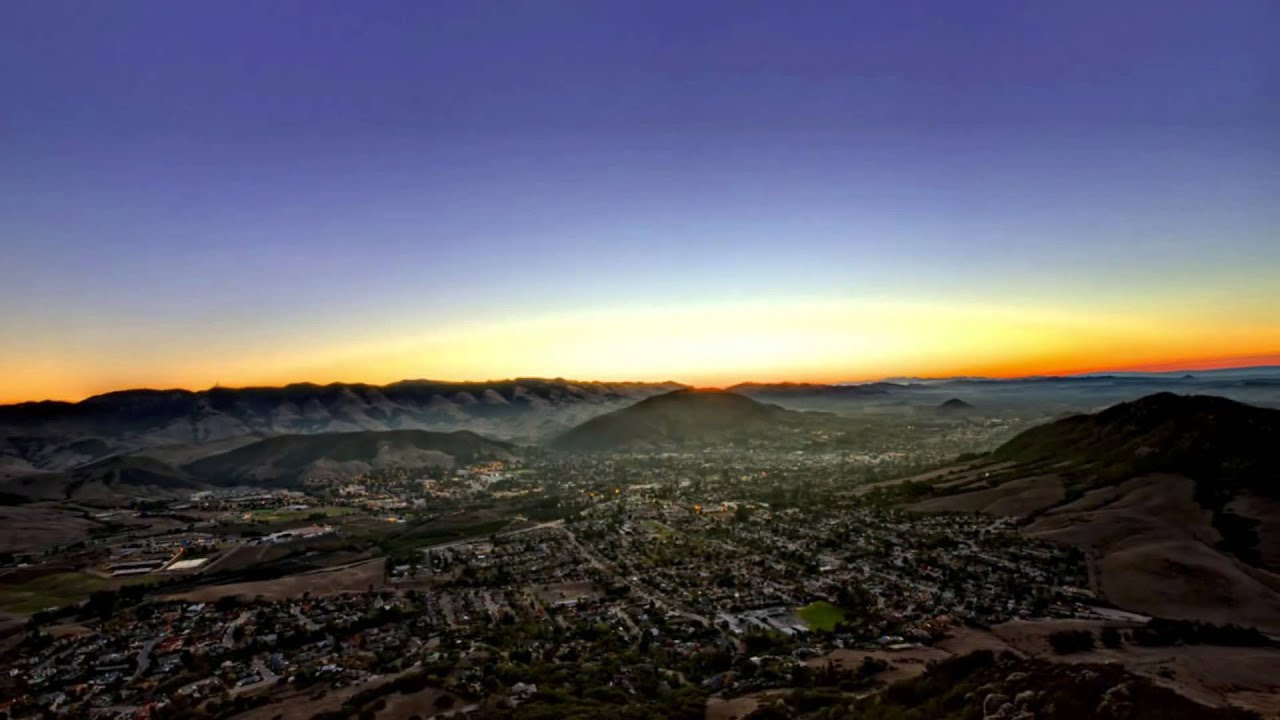 Free Live Fall Wallpaper Hdr From Bishop Peak Sunrise San Luis Obispo California