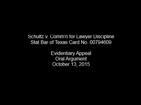 Schultz v. Commission for Lawyer Discipline