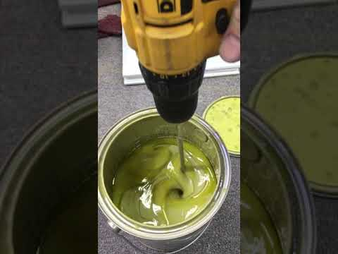 Mixing AKZO Primer with Lowes paint stirrer