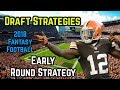 2018 Fantasy Football Draft Strategy: Early Round Strategy