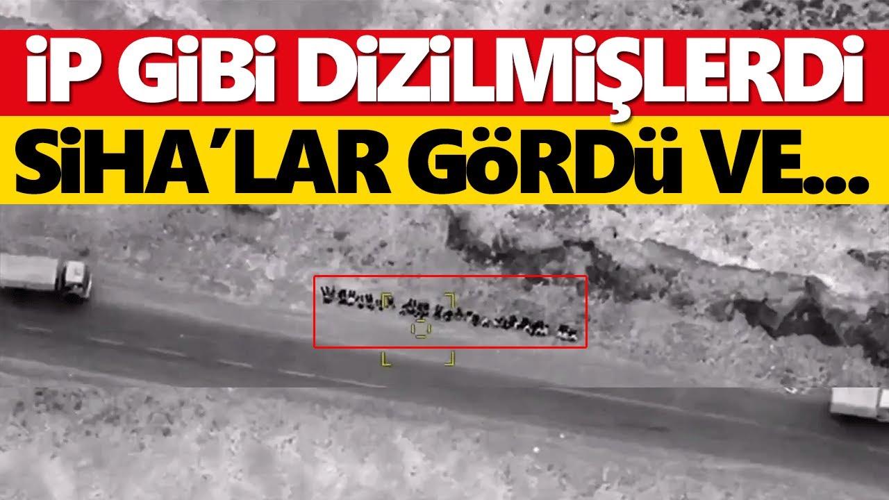 Azerbaycan-Ermenistan cephe hattında Ermeni askerleri ip gibi dizilmişti! SİHA gördü ve...