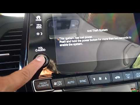 Honda Anti Theft System Lost Power How to Enable the System