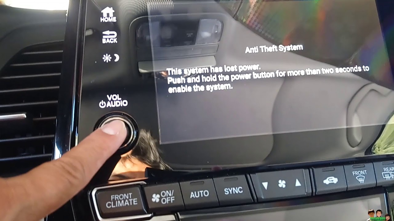 Honda Anti Theft System Lost How To Enable The