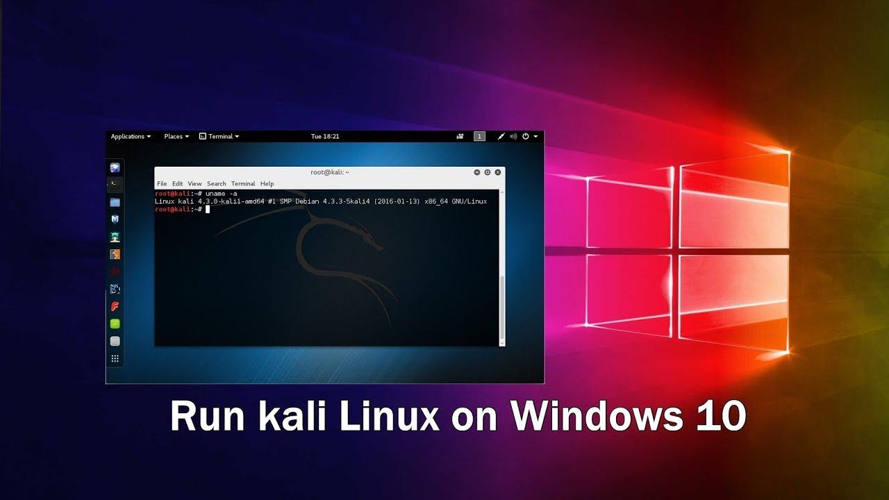 Cài Kali Linux trên Windows 10
