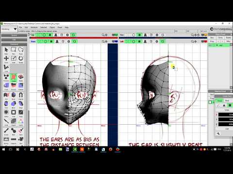 Porcelain Doll Head: Metasequoia Modeling Tutorial