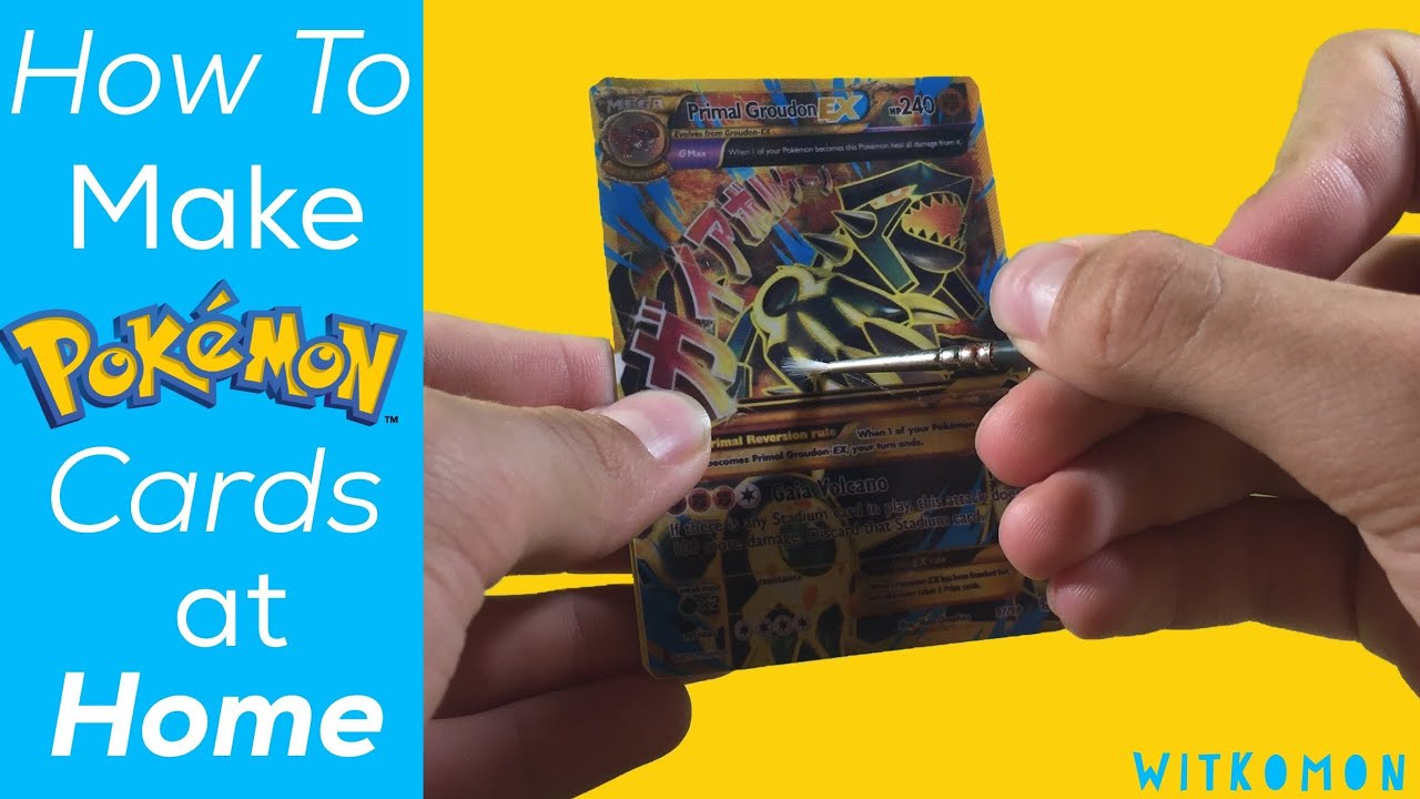 How To Make Your Own Pokemon Cards At Home Youtube
