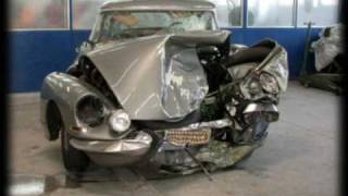 Crash vielles voitures