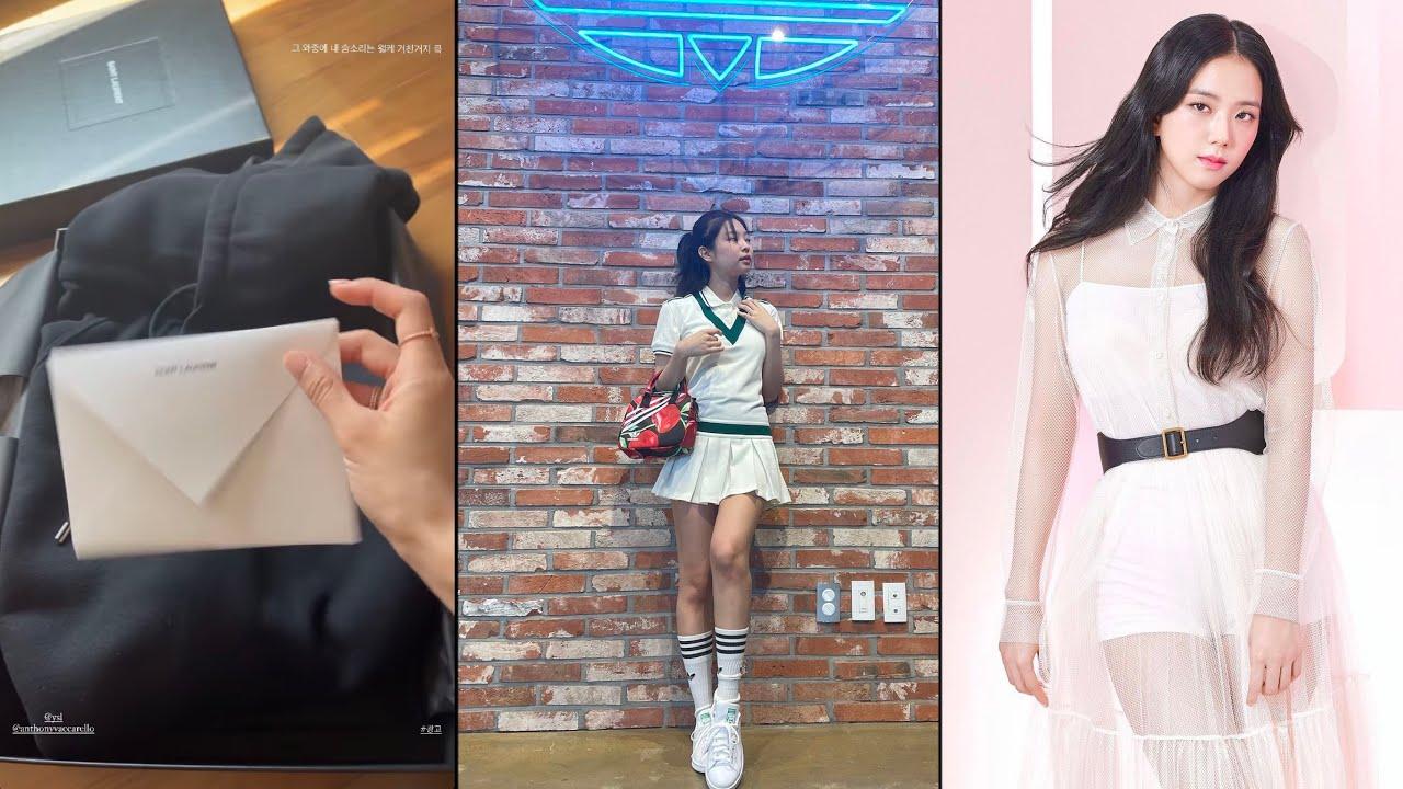 Jennie in Adidas tennis outfit, Rosé new customized hoodie, Jisoo Dior Ambassador