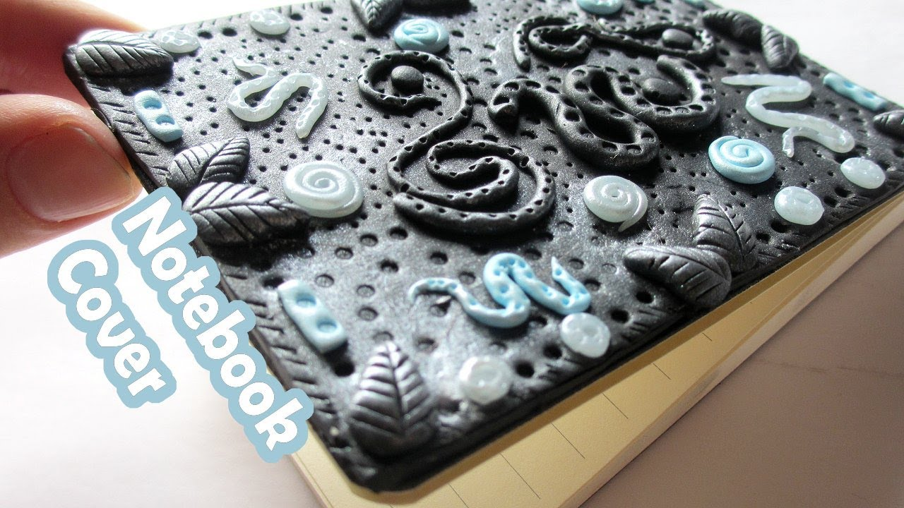 Diy polymer clay journal cover youtube.