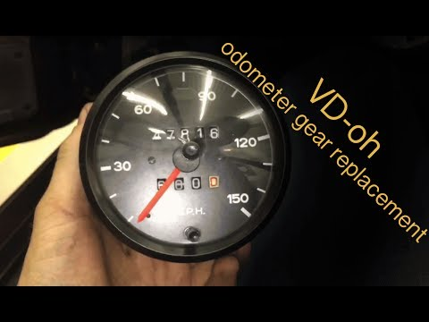 Porsche 924 944 VDO odometer gear stopped trip broken fix DIY