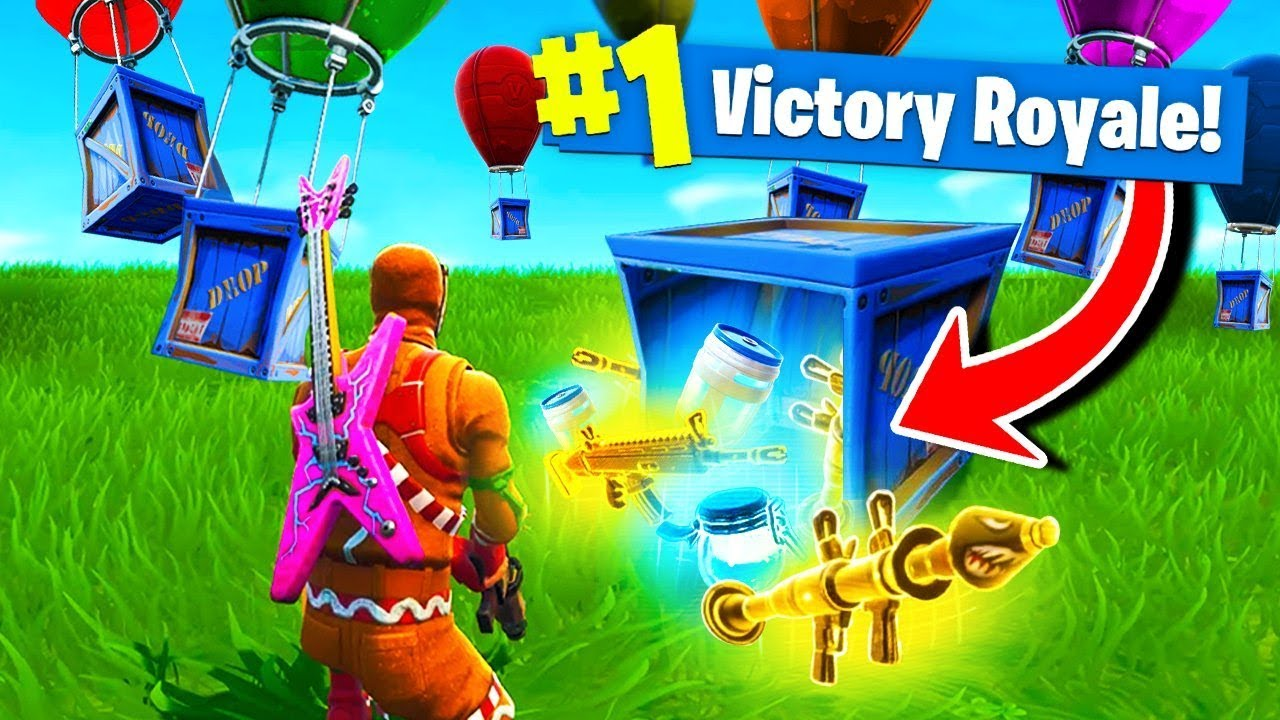 Using *ONLY* SUPPLY DROPS To WIN Fortnite Battle Royale! #1