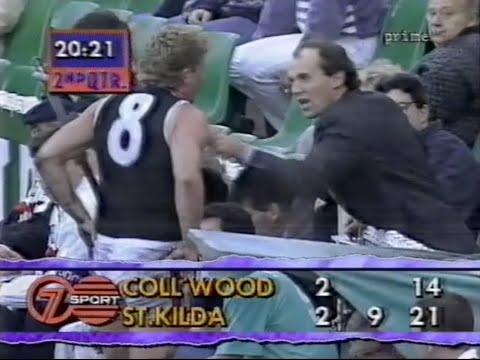 FULL GAME  - AFL 1992 Rd 12 St Kilda v Collingwood - Craig  Davenport