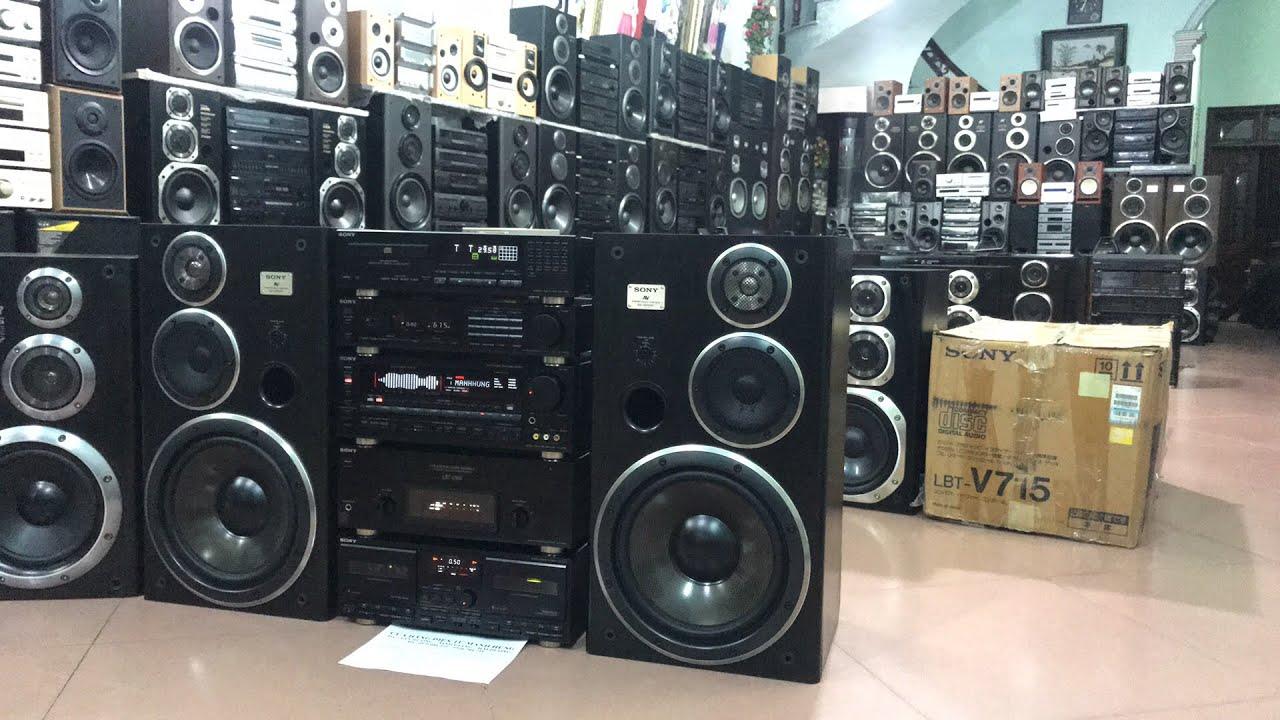 Đập hộp dàn Sony V715 nghe nhờ bác Tường-HN Sony lbt-V950 khủng/ae lh 0979086225