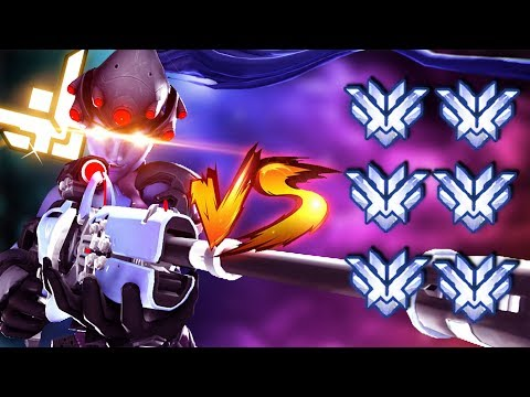 1 Grandmaster vs 6 Top 500/GM players as Widowmaker ONLY - Overwatch thumbnail