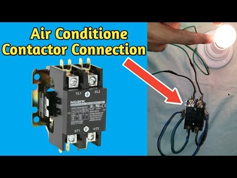 Air conditioner contactor wiring,Connection || Fully4World