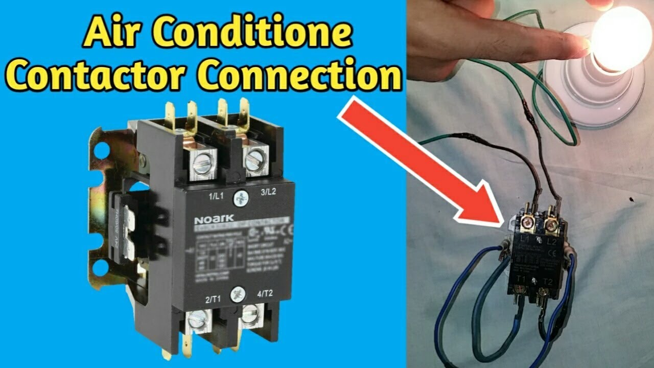 medium resolution of air conditioner contactor wiring connection fully4world youtube rh youtube com air conditioner wiring diagrams air conditioner