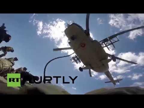 Los ejercicios antiterroristas más importantes de Eurasia, a vista de dron