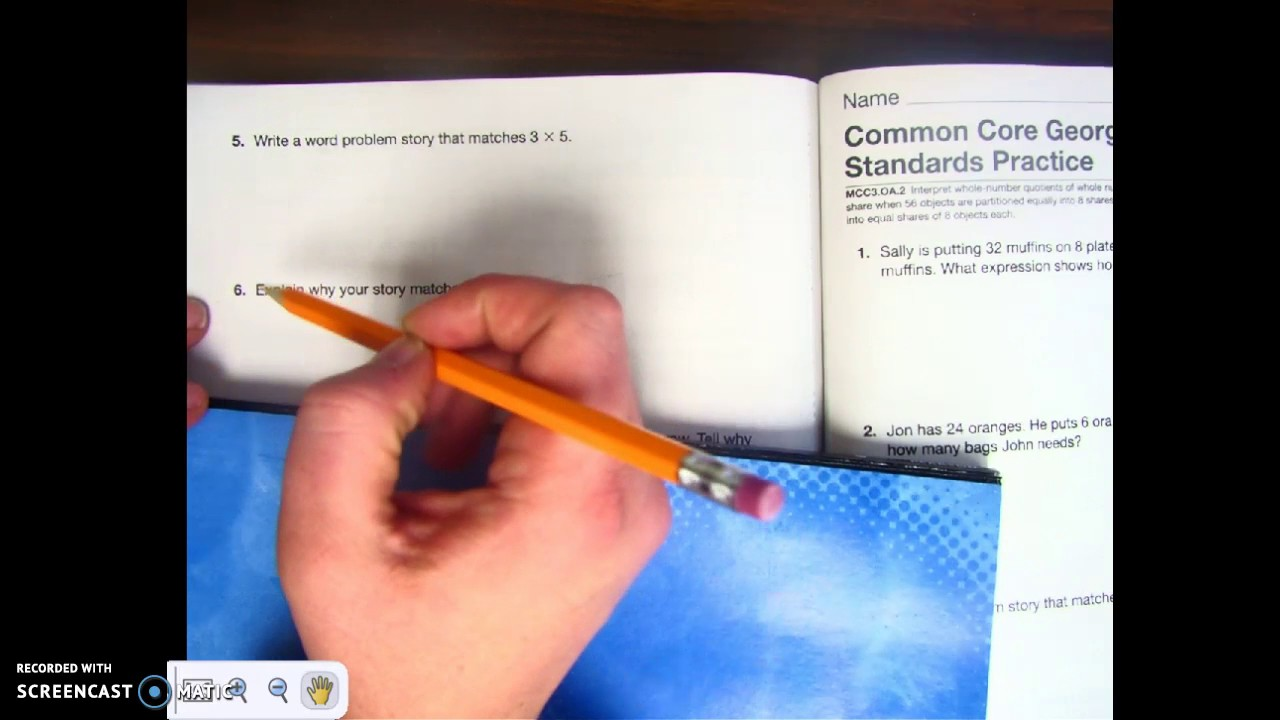CC1-CC2 (Envision Math Workbook- 3rd Grade Math- Common Core) - YouTube