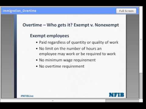 From Immigration to Overtime: Hot Topics in Labor Law | NFIB Small Business Webinar