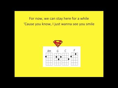One Call Away For Ukulele Play Along With Chords Key Of C Youtube