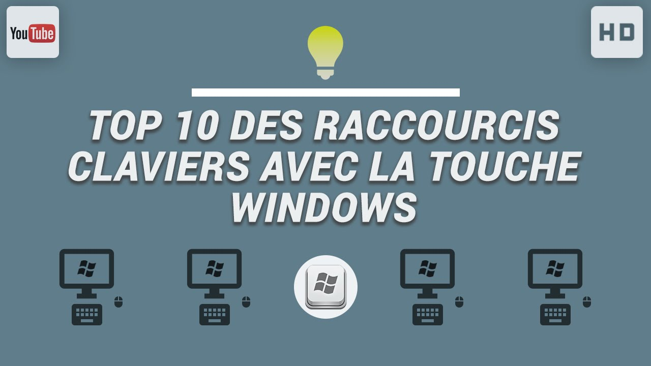 Top 10 des raccourcis claviers avec la touche windows for Raccourci clavier agrandir fenetre windows 7
