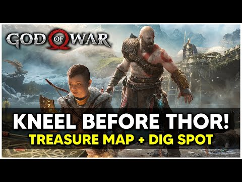 God Of War - Kneel Before Thor! Treasure Map + Dig Spot Locations