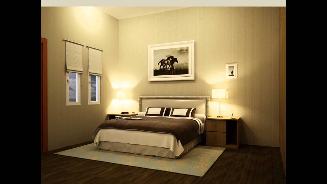 3d interior master bed room design animation 3ds maxwmv youtube - Bedroom 3d Design