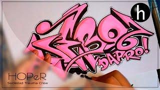 Download Video Drawing graffiti on paper #7 | Name request | Debo Da Pro MP3 3GP MP4