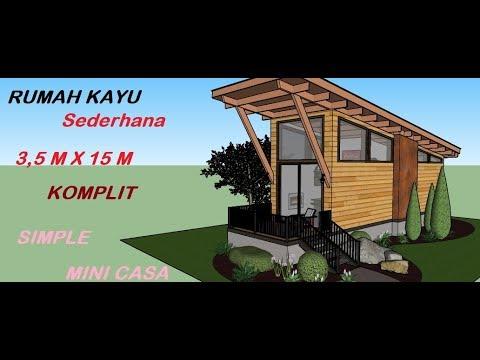desain rumah kayu desain rumah 3,5 x 15 meter desain rumah