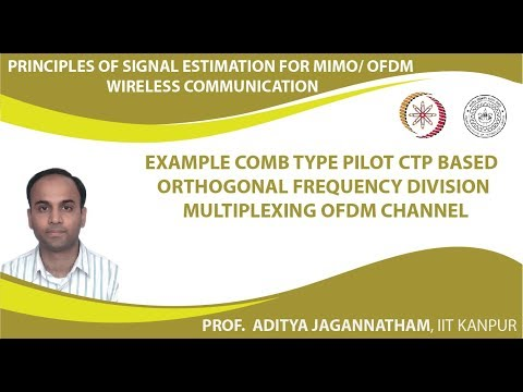 Lec 33  Example   Comb Type Pilot CTP Based Orthogonal Frequency Division Multiplexing OFDM Channel